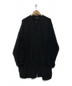 SHIZUKA KOMURO(シズカコムロ)の古着「刺繍スリーブジャケット」 ブラック