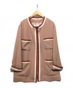 SHIZUKA KOMURO(シズカコムロ)の古着「4ポケットデザインジャケット」|ピンク