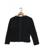 agnes b(アニエスベー)の古着「裏起毛カーディガン」|ブラック