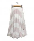 furfur(ファーファー)の古着「プリーツスカート」|ホワイト×ピンク