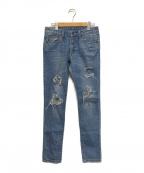 RHC Ron Herman(アールエイチシー ロンハーマン)の古着「ダメージ加工デニムパンツ」|インディゴ