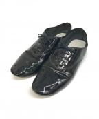 repetto(レペット)の古着「パテントレザーオックスフォードシューズ」 ブラック