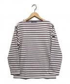 SAINT JAMES(セントジェームス)の古着「バスクシャツ」 ライラック