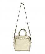 Valextra(ヴァレクストラ)の古着「B-cube 2way bag」|ホワイト