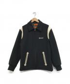 CALEE(キャリー)の古着「レザー切替スタジャン」|ブラック