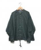 Phlannel(フランネル)の古着「スタンドカラーシャツ」 グリーン