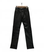 Yves Saint Laurent Rive Gauche(イヴ・サンローラン リヴ・ゴーシュ)の古着「レザーパンツ」|ブラック