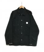 uniform experiment(ユニフォームエクスペリメント)の古着「DRIPPING COVERALL JACKET」|ブラック