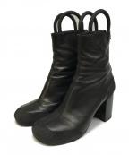 Random Identities(ランダムアイデンティティーズ)の古着「Black Worker Boots」|ブラック