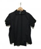 noir kei ninomiya(ノワール ケイ ニノミヤ)の古着「ラウンドカラーギャザーカットソー」|ブラック