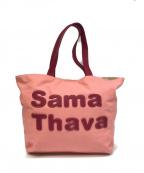 Samantha Thavasa(サマンサタバサ)の古着「サマタバパッチワークトート」|ピンク