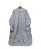 journal standard luxe(ジャーナルスタンダード ラックス)の古着「タイプワッシャー チュニックシャツ」|ブルー