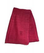 ()の古着「シルク混カシミア大判ストール」|ピンク
