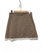 MIU MIU(ミュウミュウ)の古着「ミニスカート」|ブラウン