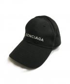 BALENCIAGA(バレンシアガ)の古着「ロゴ刺繍 ベースボールキャップ」|ブラック