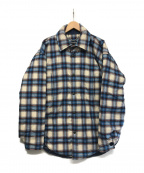 BALENCIAGA(バレンシアガ)の古着「Checked Shirt Jacket」|ブルー