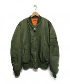 ALYX × ALPHA INDUSTRIES(アリクス×アルファインダストリーズ)の古着「ダメージ加工MA-1ジャケット」 カーキ