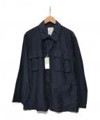 STILL BY HAND(スティルバイハンド)の古着「BDU DETAILシャツジャケット」 ブラック