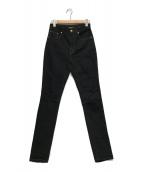 ()の古着「ダメージ加工デニムパンツ」|ブラック