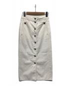 ()の古着「コットンAラインスカート」|ホワイト