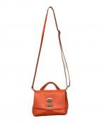 zanellato(ザネラート)の古着「POSTINAレザーショルダーバッグ」|オレンジ