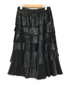 COMME des GARCONS(コムデギャルソン)の古着「フリルサテンスカート」 ブラック