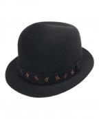 HERMES(エルメス)の古着「Hロゴフェルトハット」|ブラック