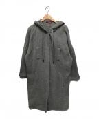 Max Mara Studio(マックスマーラ ストゥディオ)の古着「フーデッドウールコート」 グレー