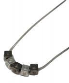 ()の古着「Black detail cube necklace」