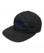 SUPREME(シュプリーム)の古着「Quilted Nylon 6-Panel Cap」|ブルー×ブラック