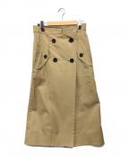 sacai(サカイ)の古着「Cotton Gabardine×Suiting Pants」|ブラウン