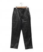DELUXE(デラックス)の古着「Fレザーパンツ」|ブラック