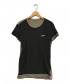 BOTTEGA VENETA()の古着「シルク混バイカラーショートスリーブTシャツ」|ブラック×グレー