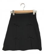 MIU MIU(ミュウミュウ)の古着「リボンスカート」|ブラック
