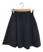 MIU MIU(ミュウミュウ)の古着「フレアスカート」|ネイビー