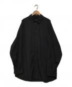 teatora()の古着「CARTRIDGE SHIRT」|ブラック