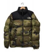 ()の古着「Novelty Nuptse Jacket」|ブラック×グリーン