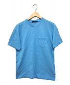 ()の古着「ハーフダミエポケットTシャツ」 ブルーエレクトリック