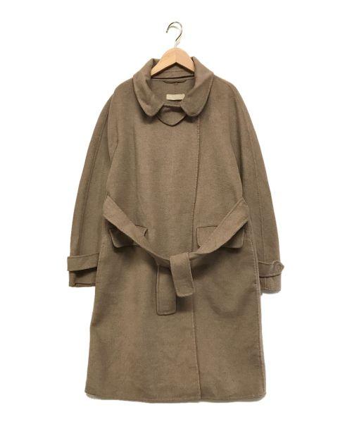 'S Max Mara(エスマックスマーラ)'S Max Mara (エスマックスマーラ) ヴァージンウールアンゴラ ダブルフェイスコート グレージュ サイズ:J42の古着・服飾アイテム