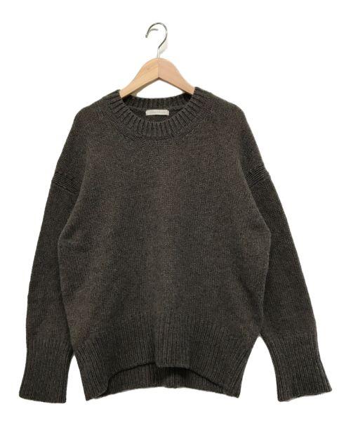 GALERIE VIE(ギャルリーヴィー)GALERIE VIE (ギャルリーヴィー) ファインウール クルーネックプルオーバー ブラウン サイズ:Sの古着・服飾アイテム