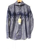 giannetto(ジャンネット)の古着「ノルディック柄ドレスシャツ」|ネイビー