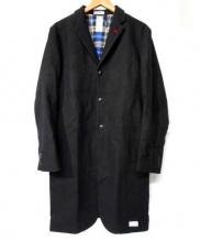 BEDWIN & THE HEARTBREAKERS(ベドウィン アンド ザハートブレーカーズ)の古着「チェスターコート」|ブラック