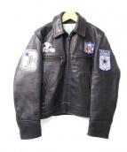 Alexander Leathers(アレキサンダー レザー)の古着「NFLカスタムカフェレーサーレザージャケット」|ブラック