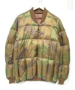SNOWPEAK(スノーピーク)の古着「プリントインナーダウンジャケット」 オリーブ