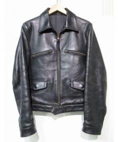 Y's for men(ワイズフォーメン)の古着「ホースレザージャケット」|ブラック