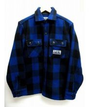 A BATHING APE(ア ベイシング エイプ)の古着「FLANNEL MOUNTAIN」|ブルー