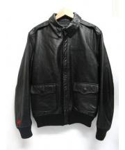 UNDEFEATED(アンディフィーテッド)の古着「レザージャケット」|ブラック