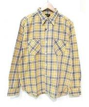 Stevenson Overall Co.(スティーブンソン オーバーオール)の古着「ネルシャツ」|イエロー