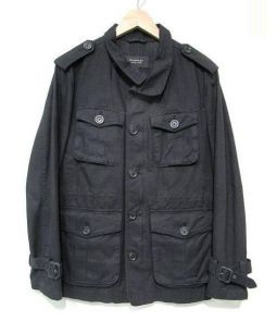 BURBERRY BLACK LABEL(バーバリーブラックレーベル)の古着「ミリタリージャケット」|ブラック