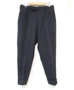 kolor/PERPETUAL(カラーパーペチュアル)の古着「クロップドタックパンツ」|ブラック